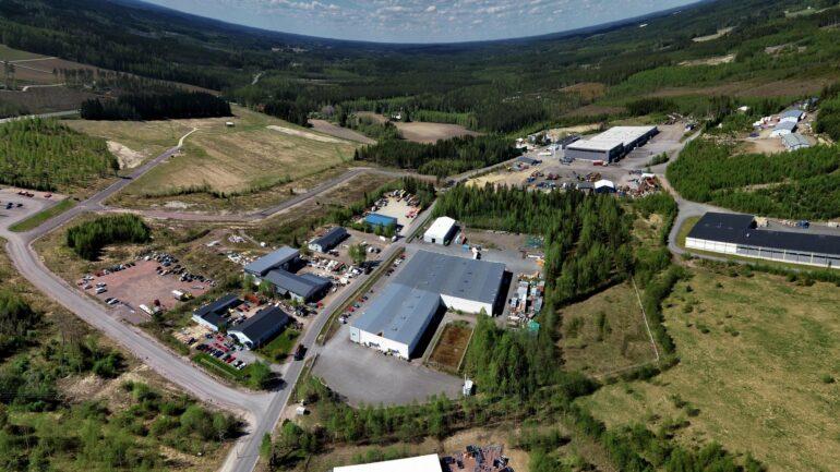 ilmakuva Rastikankaan teollisuusalueesta.