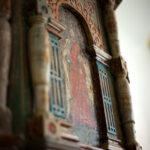 Yksityiskohta Janakkalan Pyhän Laurin kirkon saarnastuolista.