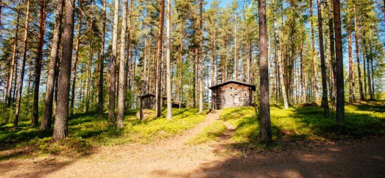 Laurinmäen torpparimuseolla on Mäenpään savupirtti