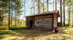 chimneyless smoke sauna Laurinmäki