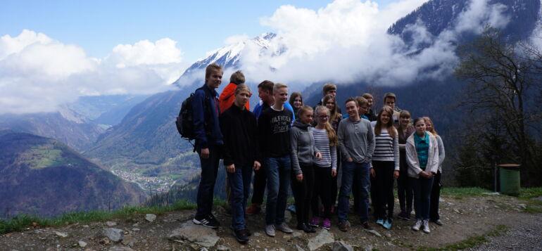 Vuoden 2015 CERN-projektin opiskelijat Alpeilla