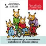 Ikääntyneiden ja vammaisten palveluiden asiakasohjauksen esitteen kansi.