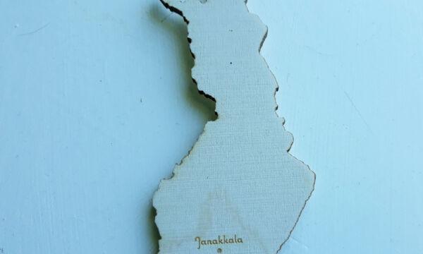 vanerista leikattu suomen kartta.