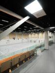 Tervakosken liikuntahallin sali toisesta kerroksesta kuvattuna.